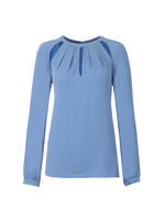 Raglan Slit Long Sleeve Top