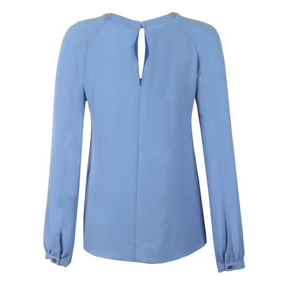 Michael Kors Womens Blue Raglan Slit Long Sleeve Top main image