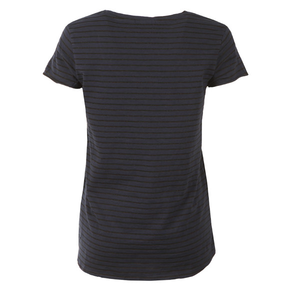 Maison Scotch Womens Blue Striped Artwork Tee main image