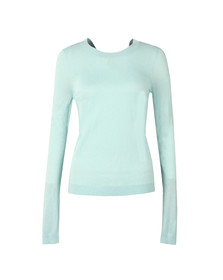 Michael Kors Womens Blue Cross Scoop Back Top
