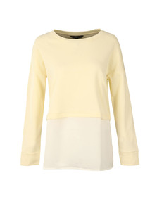French Connection Womens Yellow Lerato Loose Jersey Top
