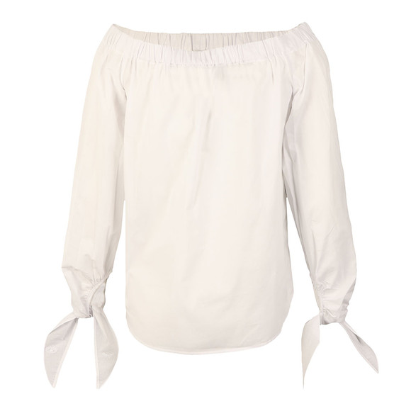 Maison Scotch Womens White Off The Shoulder Cotton Top main image