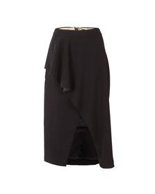 Ted Baker Womens Blue Daffnie Frill Front Asymmetric Skirt