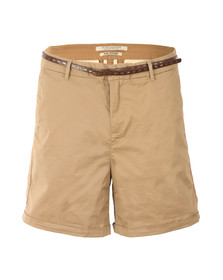 Maison Scotch Womens Beige Belted Chino Shorts