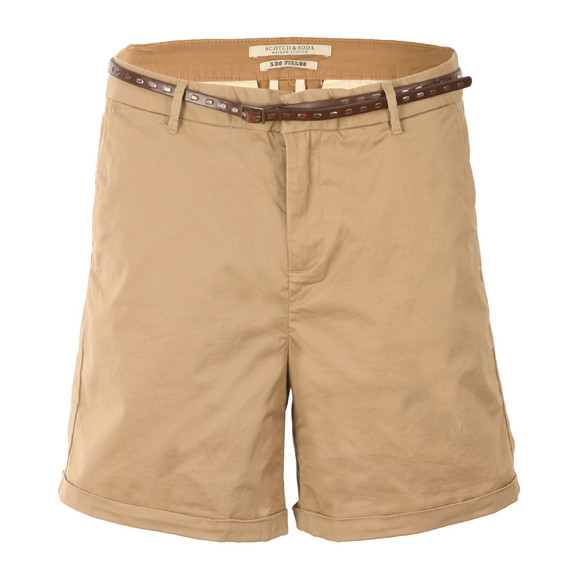 Maison Scotch Womens Beige Belted Chino Shorts main image