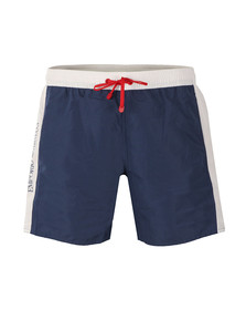 EA7 Emporio Armani Mens Blue Sea World Colour Block Swim Short