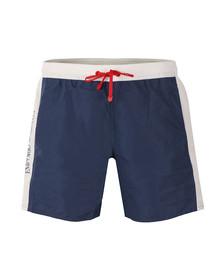 EA7 Emporio Armani Mens Blue Sea World Colour Block Swim Short
