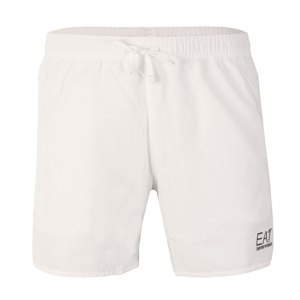 be0e9fb6f3 EA7 Emporio Armani Mens White Seaworld Core Swim Short