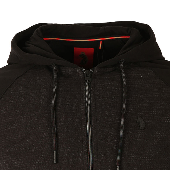 Luke Mens Black Spaced Bowser Mixed Fabric Hoody main image