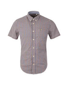 Lacoste Mens Blue CH3951 Check SS Shirt