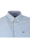 Lacoste Mens Blue CH3939 LS Stripe Shirt