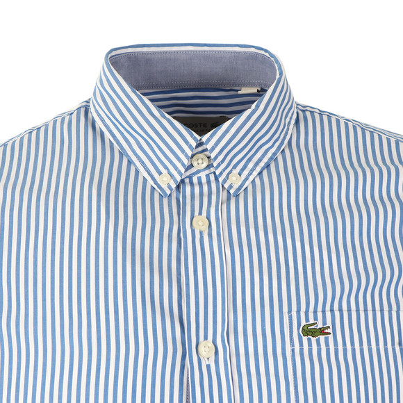 Lacoste Mens Blue CH3939 LS Stripe Shirt main image