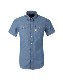 G-Star Mens Blue S/S Deconstructed Shirt