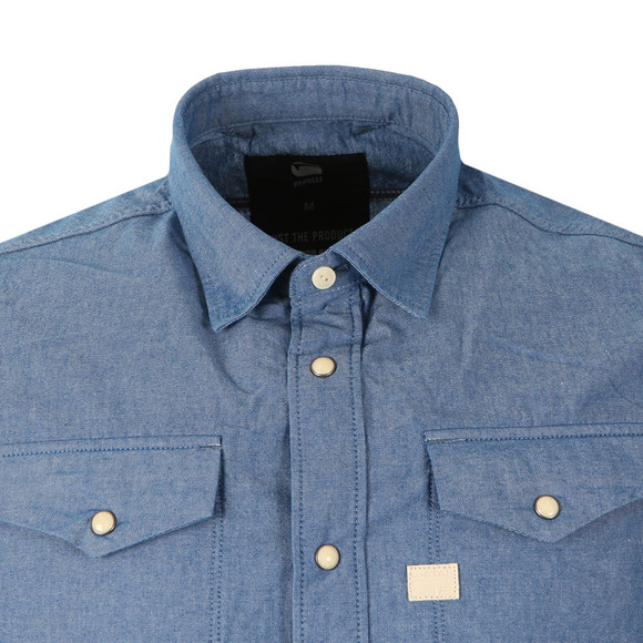 G-Star Mens Blue S/S Deconstructed Shirt main image