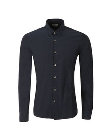 J.Lindeberg Mens Blue Daniel Cracked Jacquard Shirt