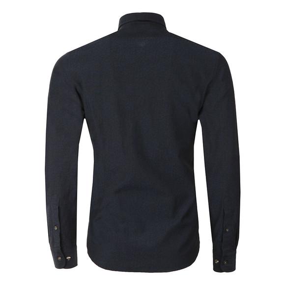 J.Lindeberg Mens Blue Daniel Cracked Jacquard Shirt main image