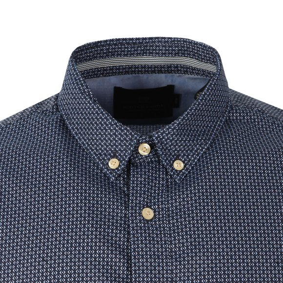 Scotch & Soda Mens Blue Classic Longsleeve Shirt main image