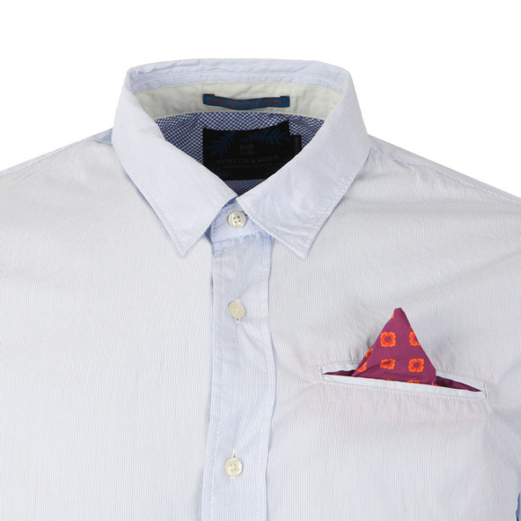 Scotch & Soda Mens Blue Longsleeve Poplin Shirt main image