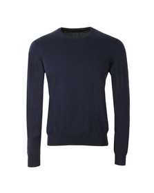 Hackett Mens Blue Pima Cotton Crew Neck Jumper