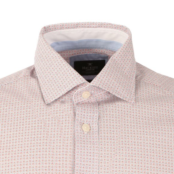 Hackett Mens Blue LS Havana Circle Print Shirt main image