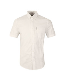 Ben Sherman Mens White S/S Classic Oxford Shirt