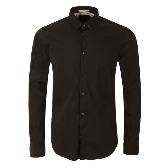 Scotch & Soda Mens Black Classic Longsleeve Shirt main image