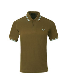 Fred Perry M12 Mens Brown S/S Tipped Polo