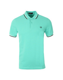 Fred Perry Mens Peppermint/white/blue Twin Tipped Polo Shirt