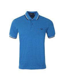 Fred Perry Mens Blue/snow White/navy Twin Tipped Polo Shirt