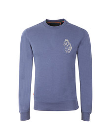 Luke Sport Mens Blue Carey Slim Fit Crew Sweat