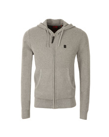 Luke Mens Grey Full Zip Hooded Sweat