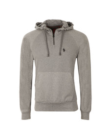 Luke Mens Grey Honey Louigi Hooded Sweat