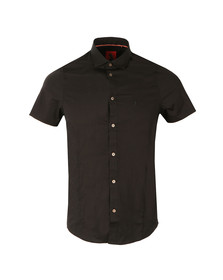 Luke Mens Black S/S Connors Pencil Shirt