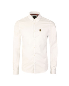 Luke Mens White L/S Cuffys Call Shirt