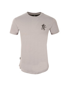 Gym king Mens Off-white Core Long Line Tee