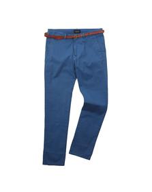 Scotch & Soda Mens Blue Chino In Stretch Cotton