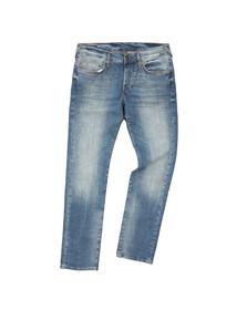 True Religion Mens Beige Rocco Relaxed Skinny Jean