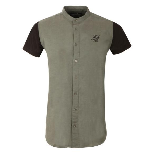 Sik Silk Mens Black Contrast Short Sleeve Jersey Shirt main image