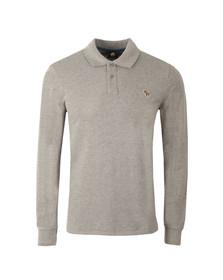 Paul Smith Mens Grey New Zebra Long Sleeve Polo Shirt
