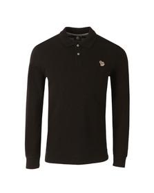 Paul Smith Mens Black New Zebra Long Sleeve Polo Shirt