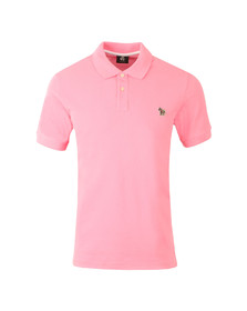 Paul Smith Mens Pink New Zebra Polo Shirt