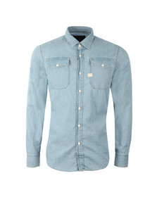 G-Star Mens Blue L/S Landoh Denim Shirt