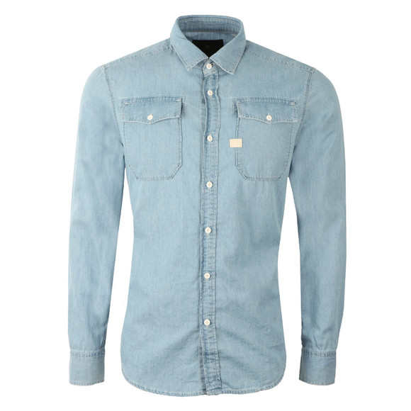 G-Star Mens Blue L/S Landoh Denim Shirt main image
