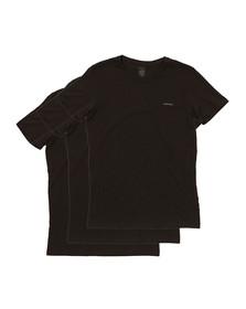 Diesel Mens Black Jake 3 Pack T Shirts