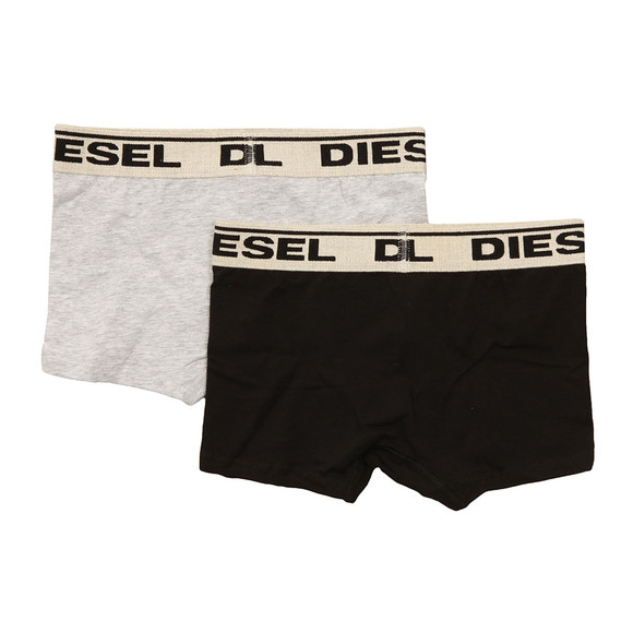 Diesel Boys Grey 2 Pack Boxer Shorts