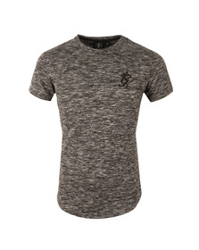 Gym king Mens Black Long Line Marl Knit Tee