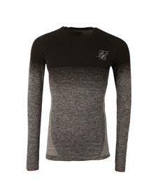 Sik Silk Mens Black Raglan Fade Long Sleeve Fade Tee
