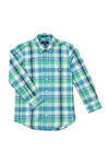 Gant Boys Blue Large Madras Check Shirt