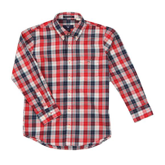 Gant Boys Red Small Broadcloth Check Shirt main image