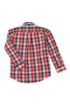 Gant Boys Red Small Broadcloth Check Shirt